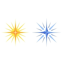 Christmas stars set vector