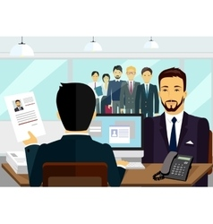 Concept of hiring recruiting interview vector