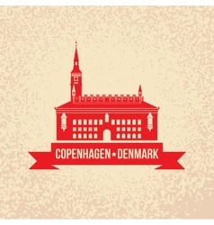 City hall the symbol of copenhagen denmark vector