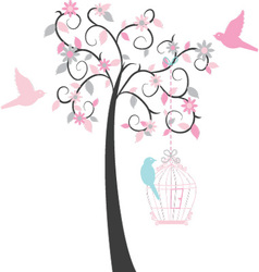 Birdcage tree vector