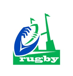 Rugby icon logo vector