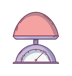 baby weight machine balance tool vector image vector image