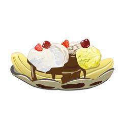 Banana Split vector image