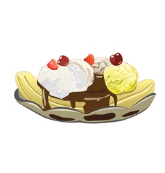 Banana split vector