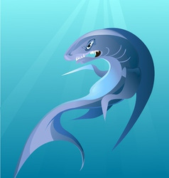 Big irritating shark vector