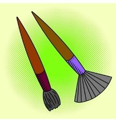 Brush Pop art vector image vector image