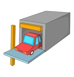 Car garage icon cartoon style vector