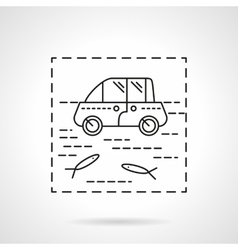 Car insurance icon flood vector