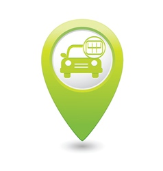cars transmission GREEN map pointer vector image