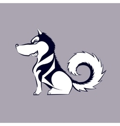 Cartoon husky dog vector