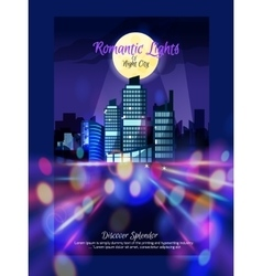 City Nightscape Poster vector image