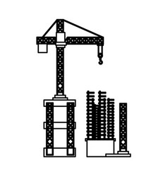 Construction crane icon vector