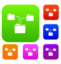 folders structure set collection vector image vector image