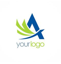 Letter a company logo vector