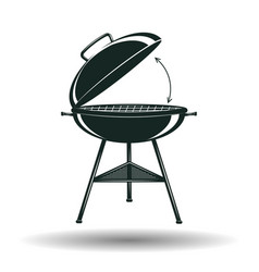 monochrome bbq grill sign vector image vector image