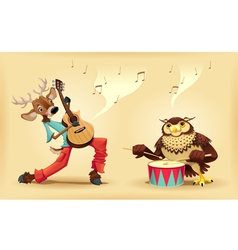 Musicians animals vector
