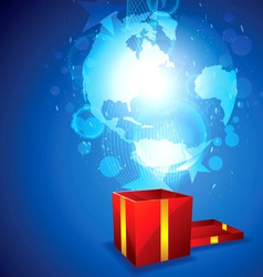 new world for gift vector image vector image