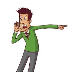 Screaming man vector image vector image