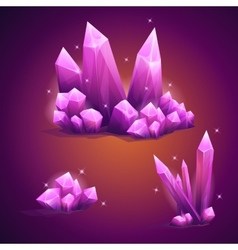 Set magical crystals of various shapes vector image