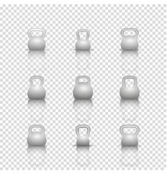 Set realistic kettlebells vector