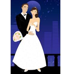 Sexy bride and groom vector