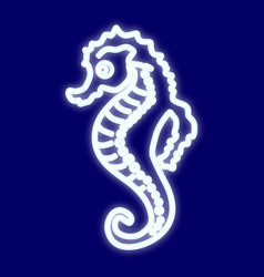 the image of a sea horse vector image