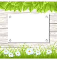 Wall with announcement vector image vector image