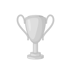 Winner cup icon black monochrome style vector image vector image