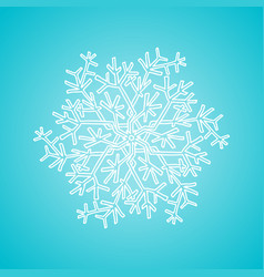 winter white snowflake on blue background vector image