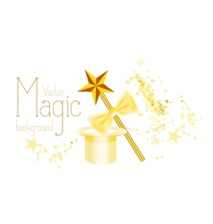 Magic background vector image