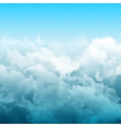 Realistic clouds abstract composition vector