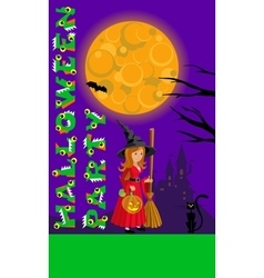 Halloween for print flyer greeting vector