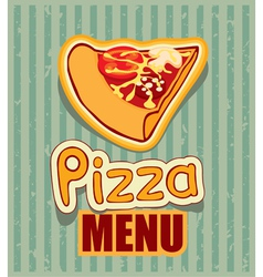 Menu with pizza vector