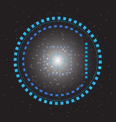 sci-fi futuristic user interface abstract vector image
