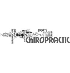 Why chiropractic is a good idea text word cloud vector