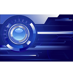 Blue background with a blue lens vector