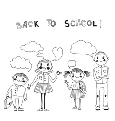 With students back to school vector