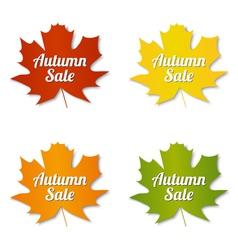 Autumn sale labels vector