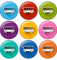 Bus icons vector
