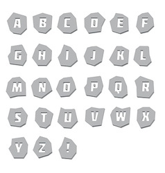Alphabet unusual steel vector