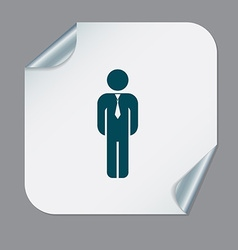 Business man in a tie vector
