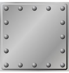 Metal plate background vector