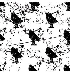 Satellite dish pattern grunge monochrome vector