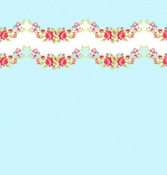 Seamless border pattern with red roses vector