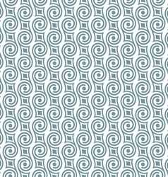 Stylish seamless retro pattern with swirls vector