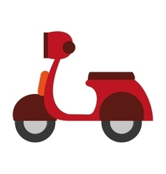Transportation design motorcycle icon flat and vector