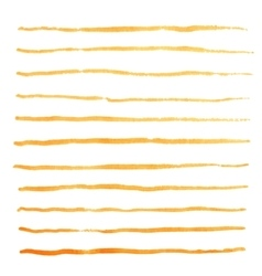 Watercolor stripes strokes orange brushes vector