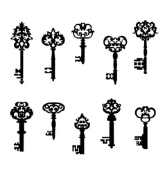 Antique keys set vector image