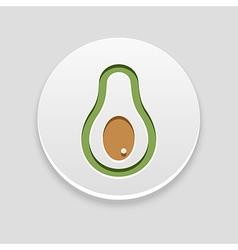 Avocado icon fruit vector