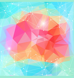 Bright polygonal motion energy background vector